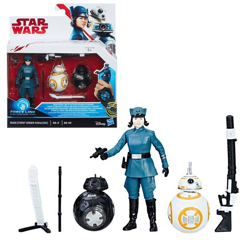 SW: TLJ Rose First Order, BB-8 and BB-9E 3-Pack, Not Mint