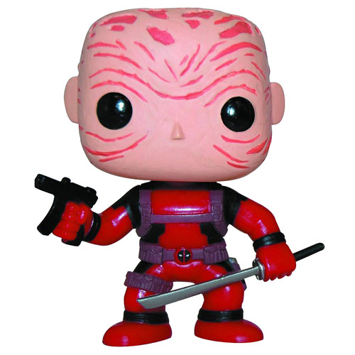 Deadpool Maskless Red Suit Marvel Pop! Vinyl Bobble Head - Previews Exclusive