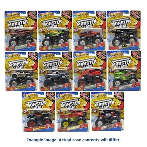 Hot Wheels Monster Jam 1:64 Scale Wave 12 Case