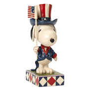 Peanuts Traditions Snoopy Patriotic Statue