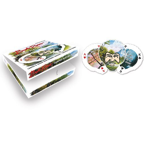 Bob Ross Shaped Playing Cards