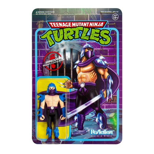 Teenage Mutant Ninja Turtles Shredder 3 3/4-Inch ReAction Figure