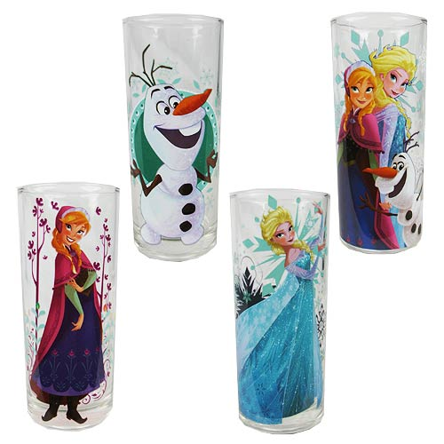 Disney Frozen Characters Pint Glass 4-Pack
