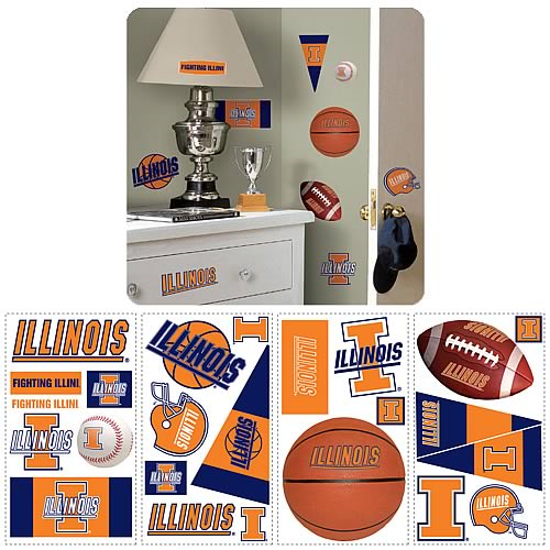 University Of Illinois Peel and Stick Wall Applique