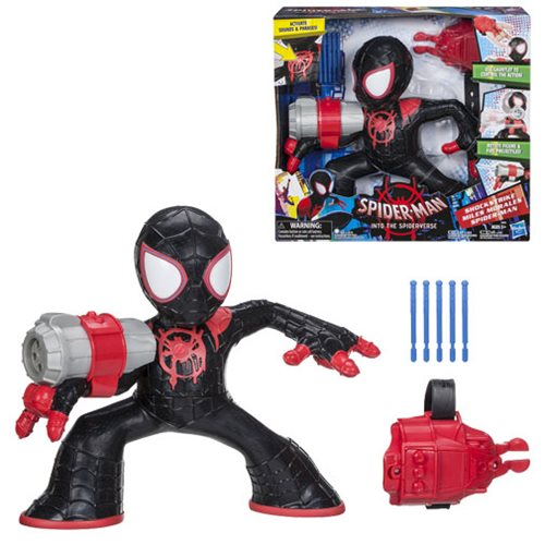 Spider-Man: Into the Spider-Verse Shockstrike Miles Morales Spider-Man Super Hero Electronic Action Figure