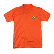Aquaman Logo Embroidered Patch Polo T-Shirt