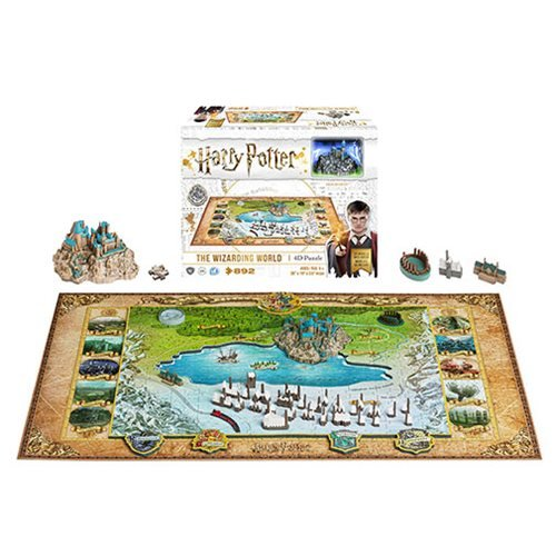 Harry Potter Wizarding World of Hogwarts and Hogsmead 4D Puzzle