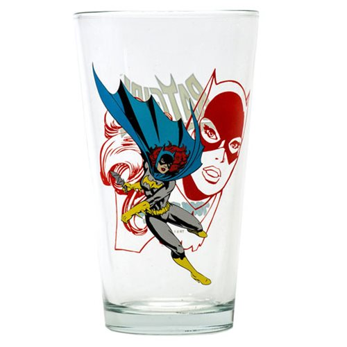 Batman Batgirl Toon Tumbler Pint Glass