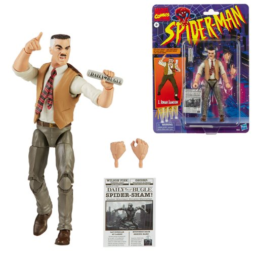 Spider-Man Retro Marvel Legends J. Jonah Jameson FIgure