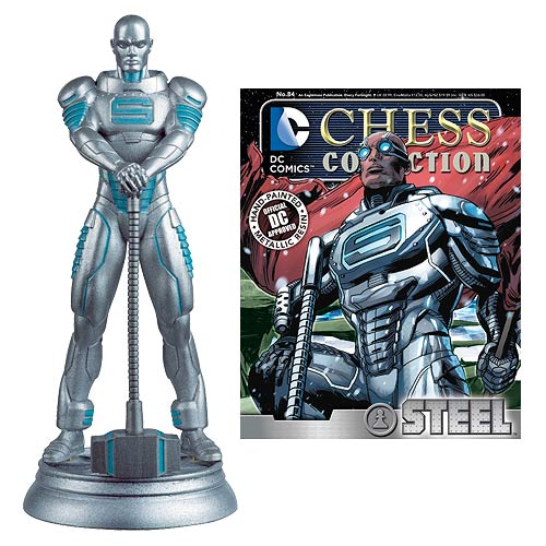 DC Superhero Steel White Pawn Chess Piece with Collector Magazine