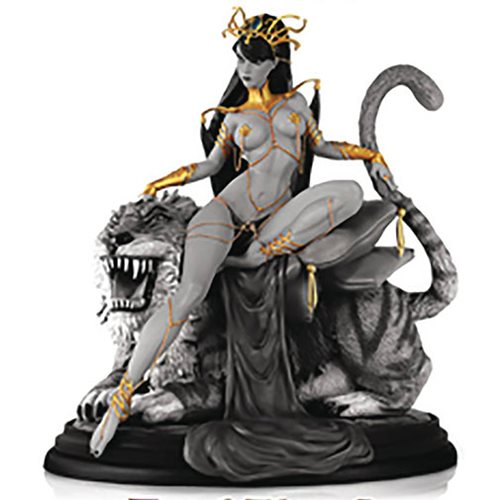 Women Dynamite Dejah Thoris Campbell Black and White Statue