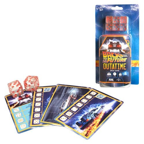 Back to the Future OUTATIME Dice Game, Not Mint