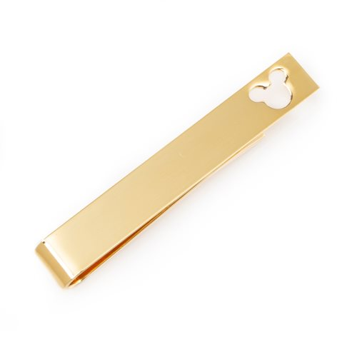 Mickey Mouse Cut Out Gold Tie Bar