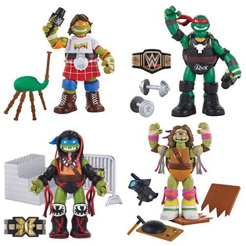 TMNT WWE Ninja Superstars Action Figure Wave 2 Case