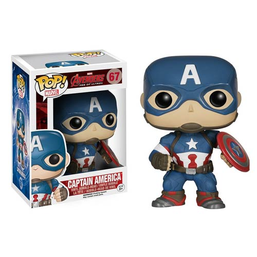 Avengers Age of Ultron Captain America Pop! Vinyl Bobble Head Figure