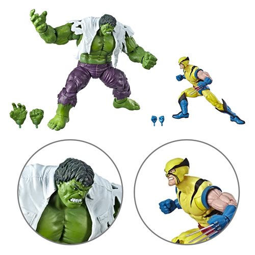Marvel Legends Wolverine and Hulk 6-Inch Action Figures