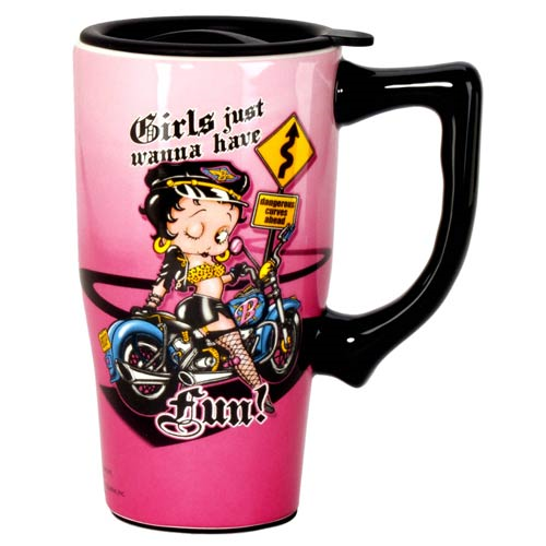 Betty Boop Fun Travel Mug with Handle