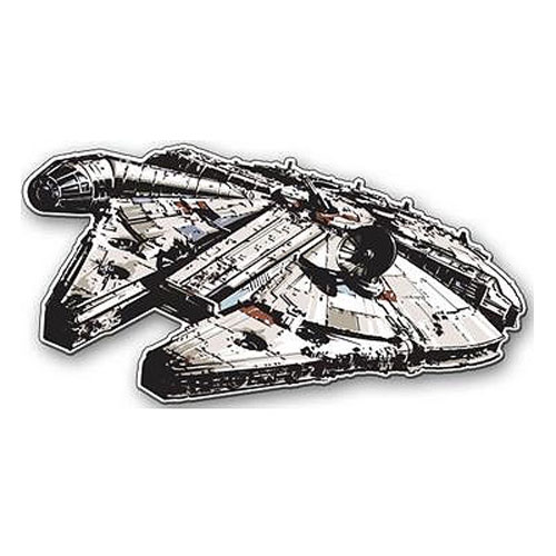 Star Wars Millennium Falcon Die-Cut Wood Wall Art