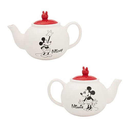Mickey and Minnie Mouse Sculpted Ceramic Teapot