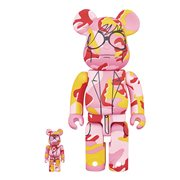 Andy Warhol Camo Version 400% and 100% Bearbrick 2-pack