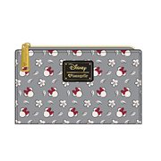 Minnie Mouse Gray Print Bi-Fold Zipper Wallet
