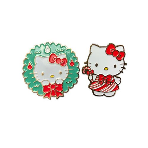 Hello Kitty 2017 Holiday Christmas Enamel Pin Set
