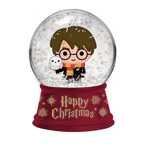 Harry Potter Happy Christmas 6-Inch Light-Up Snow Globe