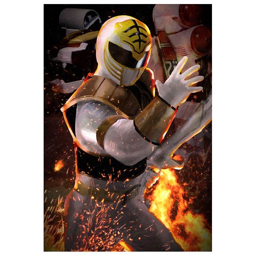 Mighty Morphin' Power Rangers The White Ranger by Louis Solis Canvas Giclee Art Print