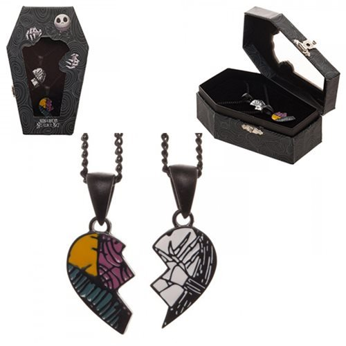 The Nightmare Before Christmas His and Hers Necklace Set