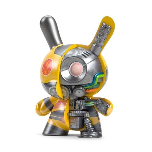 Dairobo-B Mecha Half Ray Dunny by Dolly Oblong 5-Inch Yellow Dunny Vinyl Figure
