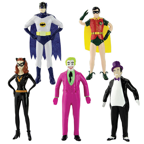 Batman Classic TV Series 5 1/2-Inch Bendable Figure Box Set