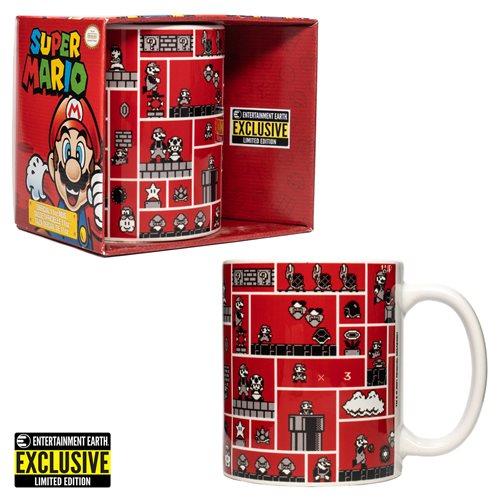 Super Mario Bros. Gridded Scenes Mug - EE Exclusive