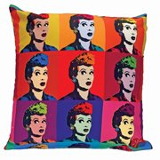 I Love Lucy Warhol Art Throw Pillow