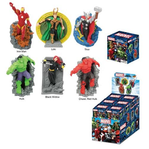 Marvel Super Hero Series 2 Diorama Magnets Display Case