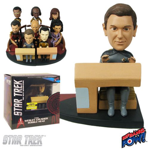 Star Trek: The Next Generation Wesley Build-a-Bridge Deluxe Bobble Head - Convention Exclusive 1 of 8