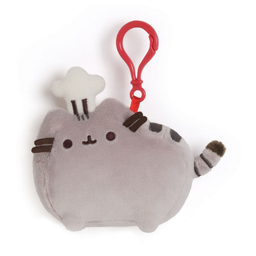Pusheen the Cat with Chef Hat Clip-On Backpack Plush