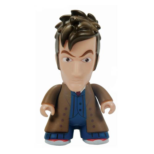 Doctor Who Titans 10th Doctor Brown Trench Coat Vinyl Figure