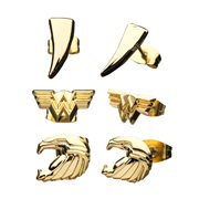 Wonder Woman 1984 WW84 3-Piece Stud Earring Set