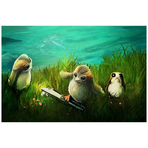 Star Wars Porgs at Play by Joel Payne Canvas Giclee Art Print
