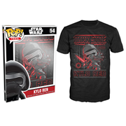 Star Wars: Episode VII - The Force Awakens Kylo Ren Poster Black Pop! T-Shirt