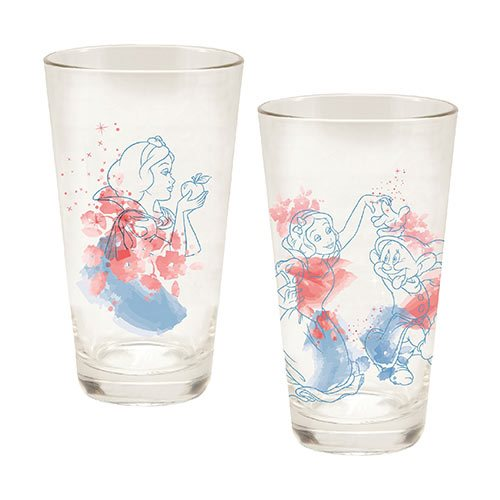 Snow White 16 oz. Laser Decal Glass 2-Pack