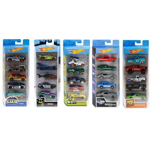 Hot Wheels 2019 5-Car Pack Wave 13 Case