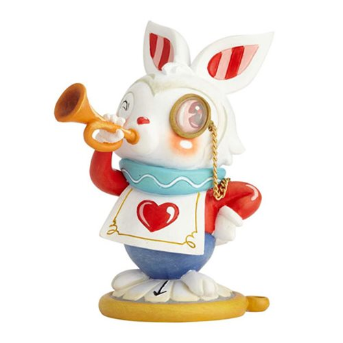 Disney The World of Miss Mindy Alice in Wonderland White Rabbit Statue