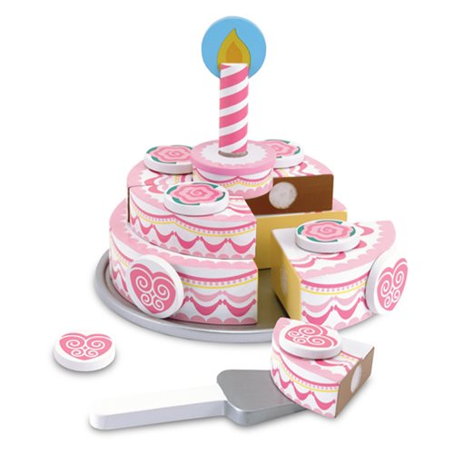 Triple-Layer Party Cake Wooden Food Playset