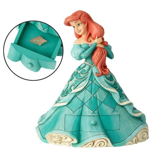 Disney Traditions The Little Mermaid Ariel with Shell Charm Statue by Jim Shore