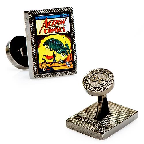 Superman Action Comics #1 Comic Book Cover Cufflinks