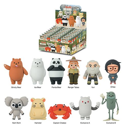 We Bare Bears 3-D Figural Key Chain Display Case