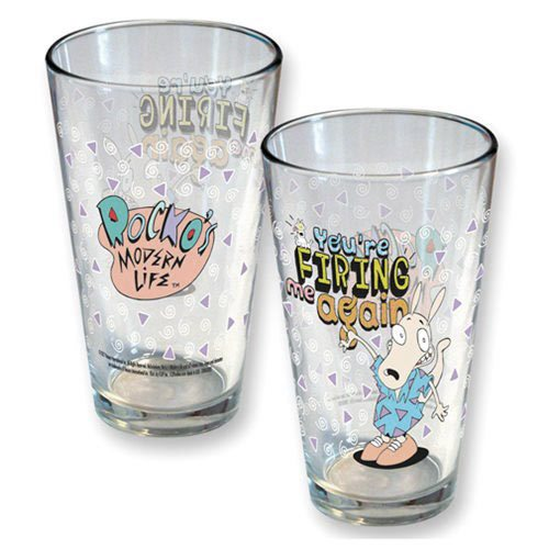 Nickelodeon Rocko's Modern Life Firing Me Again Pint Glass