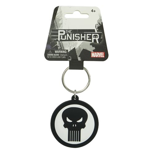 Punisher Marvel Extreme Logo Soft Touch Key Chain