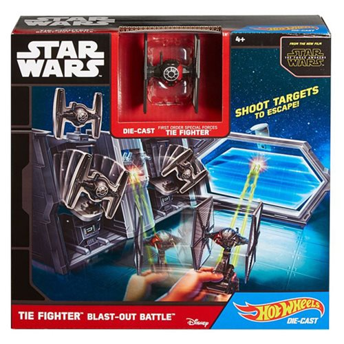 Star Wars Hot Wheels TIE Fighter Blast-Out Battle Playset